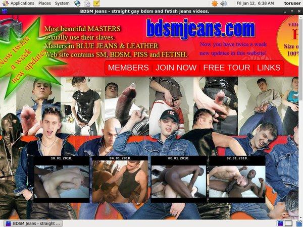 Free BDSM Jeans Pass