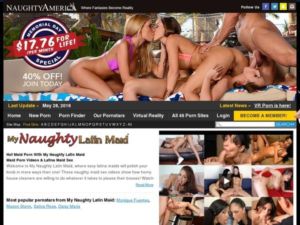 My Naughty Latin Maid Free Membership