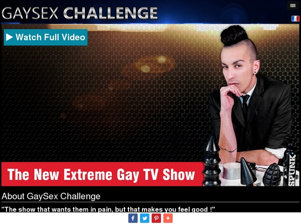 Gay Sex Challenge Sign Up Again