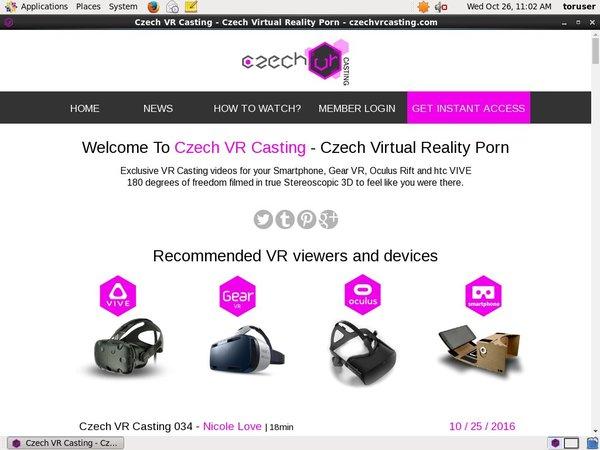 Czech VR Casting 注册帐号