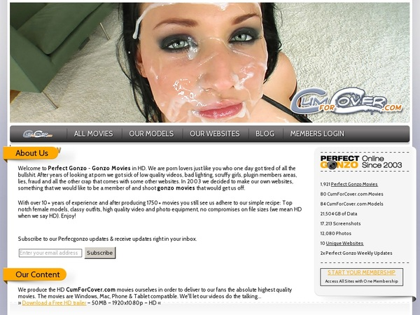 Cumforcover.com Join Now