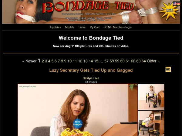 Bondage Tied Member Login